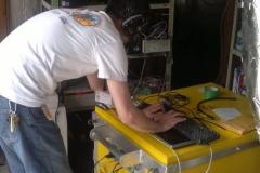 Mobilny zegar cezowy w trakcie pracy - T2K